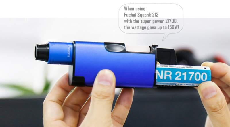 Sigelei Fuchai 213 Squonk Mod 21700 battery