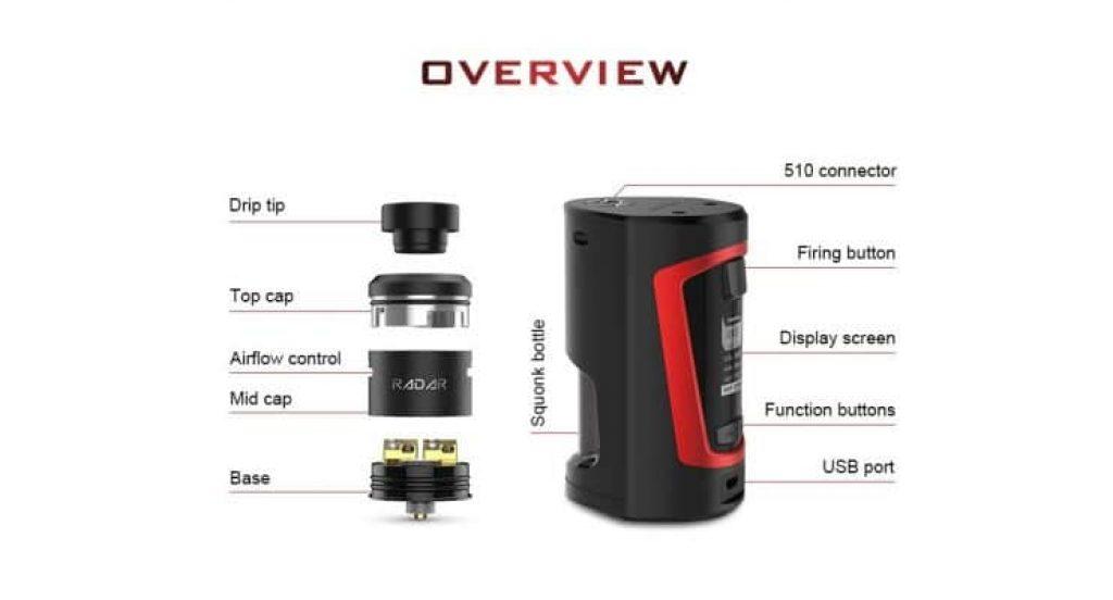 Geekvape Gbox 200w Squonker Kit with Radar RDA Overview