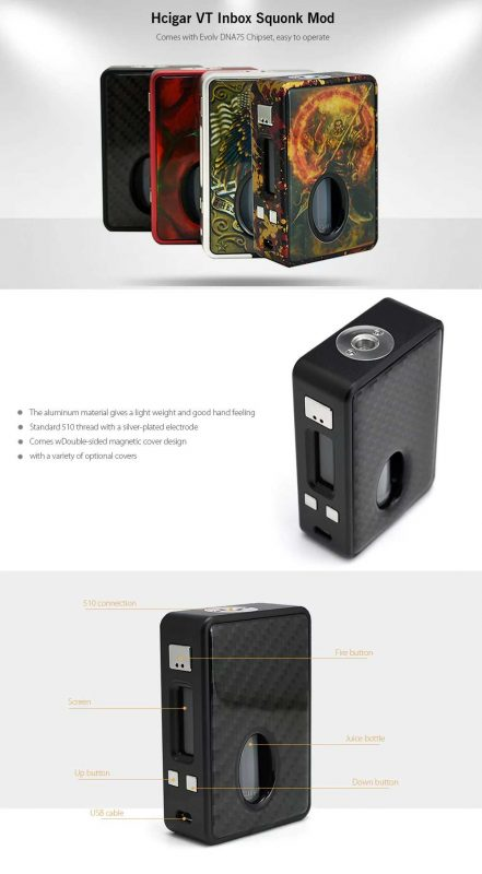 Cheapest Hcigar VT Inbox Squonker Mod