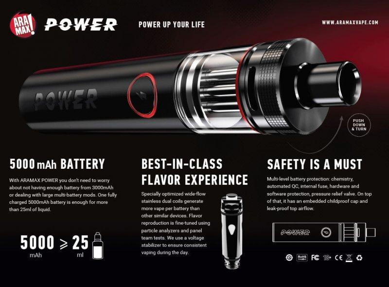 aramax power 5000mAh main specifications