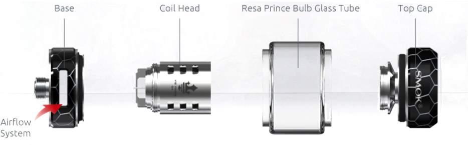 SMOK Resa Prince Tank Components