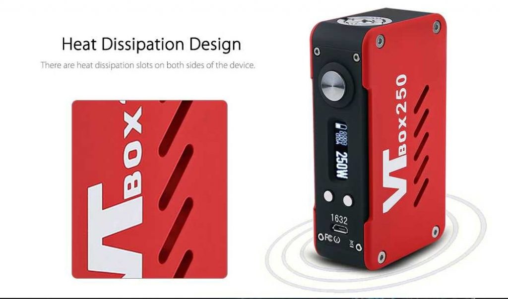 VapeCige VT Box DNA 250 Chip Mod Heat Dissipation Design