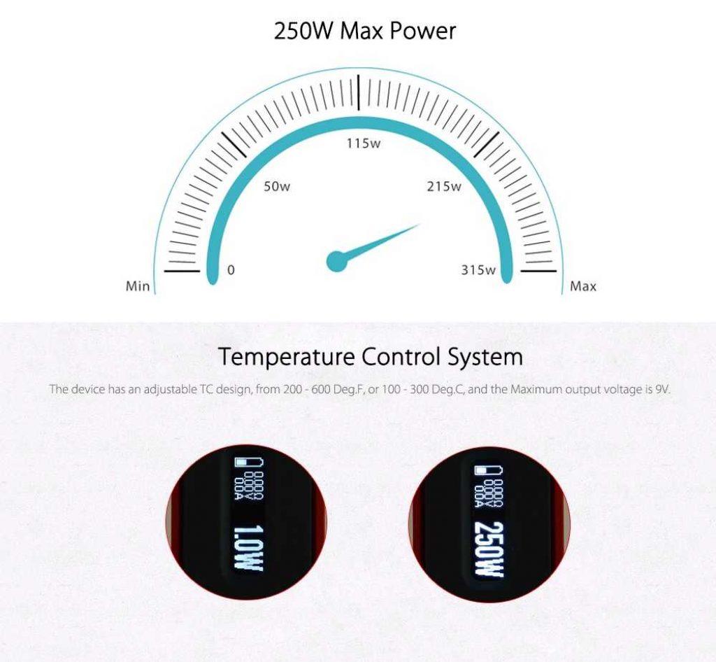 VapeCige VT Box DNA 250 Chip Mod Temperature Control System