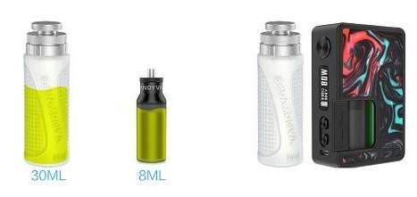 Vandy Vape Pulse BF 80w Squonk Gene Chip Mod 8ml capacity 30ml refill bottle