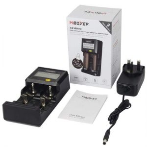 MIBOXER C2-6000 3amp Vaping Battery Charger Fast charging unit package contents