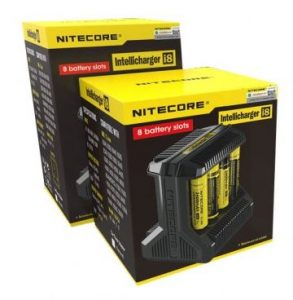 Nitecore i8 Multi-slot Intelligent Charger package contents