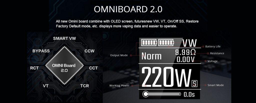 Vaporesso Revenger Mod UK Quick Charge Omniboard 2.0 Chip set