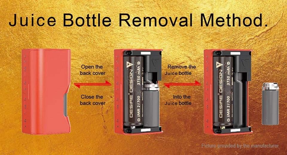 Desire Cut 108W Squonk Mod Juice Bottle Removal 7ml 2