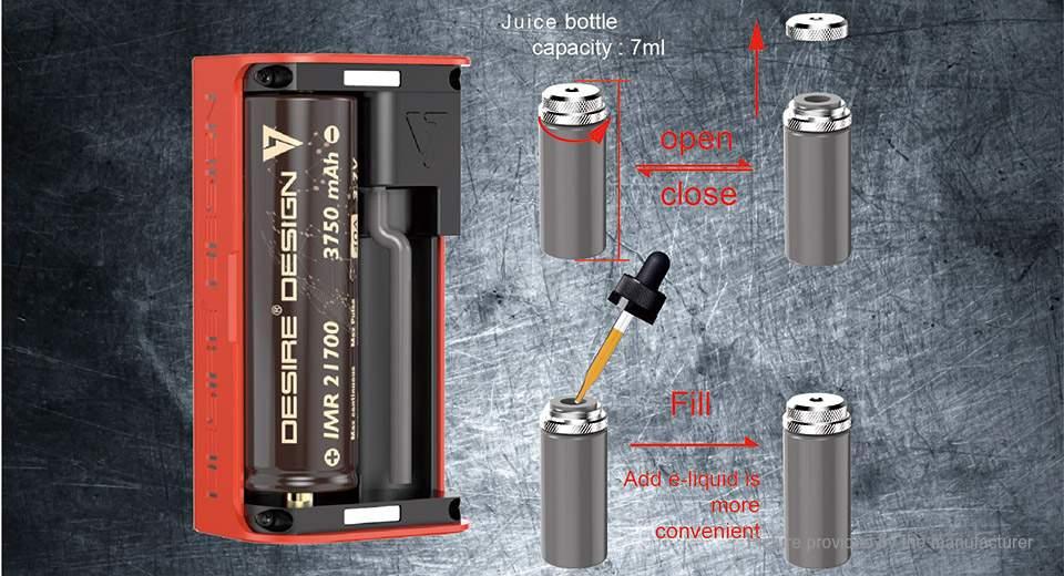 Desire Cut 108W TC VW APV Squonk Box Mod