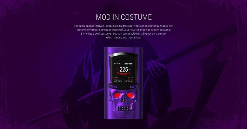 SMOK S-Priv Mod 225W Mod skull costume