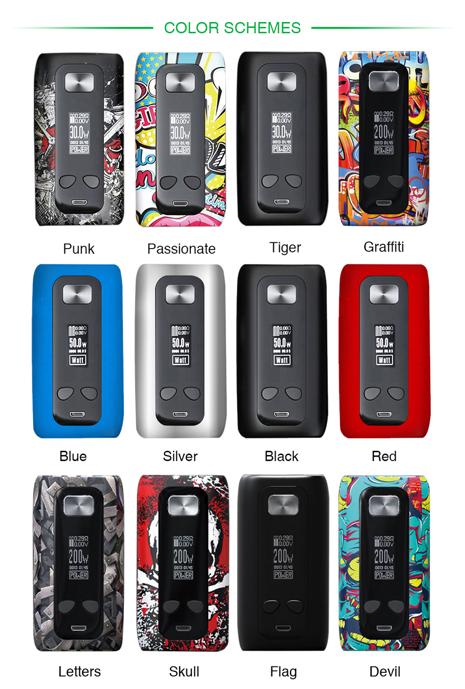 Think Vape Thor Mod Multiple Colours
