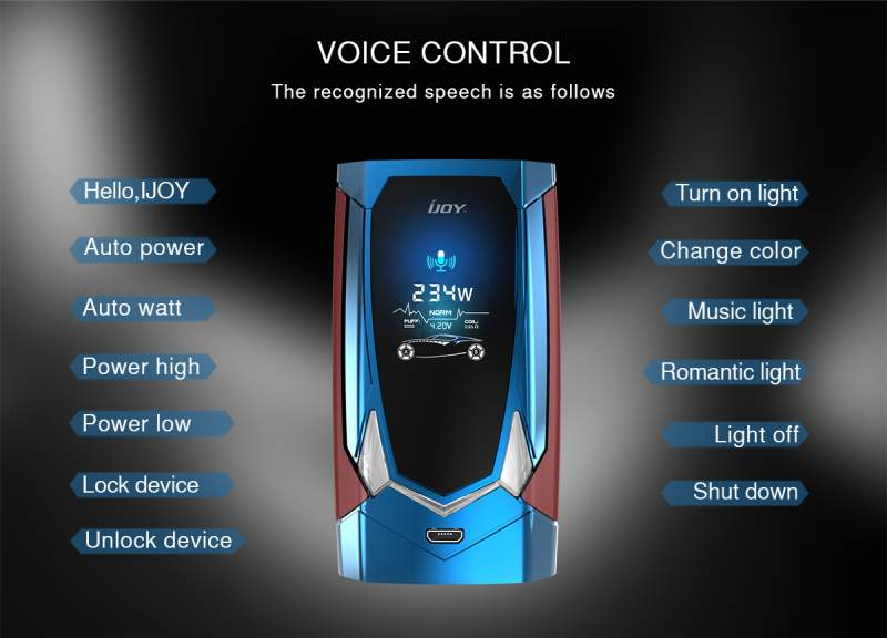 IJOY Avenger 270 234W Voice Control Commands