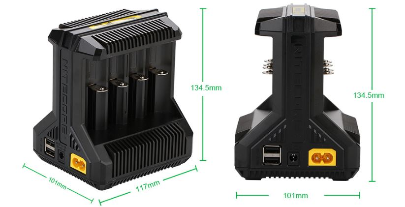 Nitecore Intellicharger I8 Li-on Battery Charger Parameters