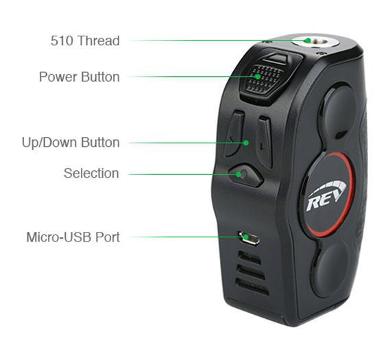 REV Nitro 200W TC Box MOD Components