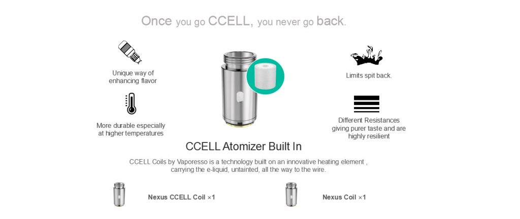 Vaporesso Nexus Starter Kit 650mAh ccel coil
