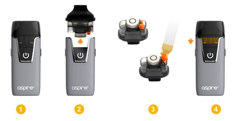 Aspire Nautilus AIO Filling steps