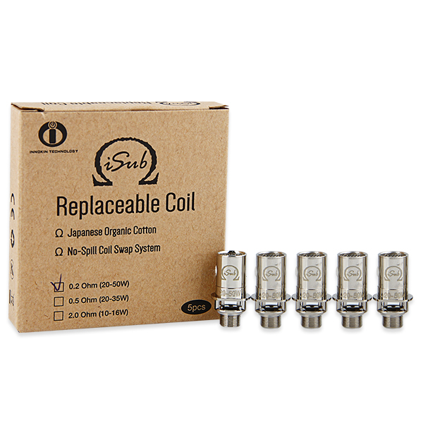Innokin iTaste iSub Subohm Coil 5pcs(0.5ohm, TPD-English Version)