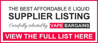 Cheapest E-Liquid List