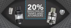 20% Reduction On Tanks n Atomizers At Joyetech UK
