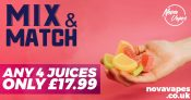 Mix and Match 4 x 60ML – £17.99