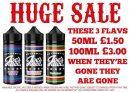 100ml Joe's Juice Shortfill E-Liquid Sale – £3.00